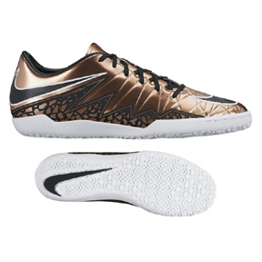 Nike HyperVenom Phelon II Indoor Soccer Shoes (Metallic Bronze)