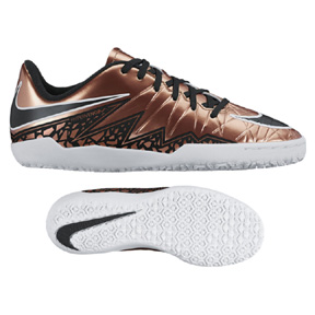 Nike Youth HyperVenom Phelon II Indoor Soccer Shoes (Bronze)