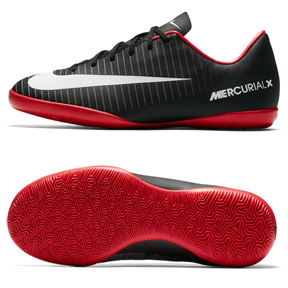 Nike Youth Mercurial Victory  VI Indoor Shoes (Black/Grey)