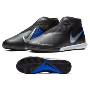 Nike Phantom Vision Academy DF Indoor Shoes (Black/Silver/Blue)
