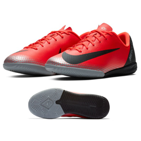 Nike Youth  CR7  MercurialX Vapor XII Academy Indoor Shoes (Red)