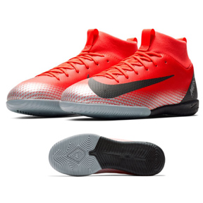Nike Youth CR7 MercurialX Superfly 6 Academy Indoor Shoes (Red)