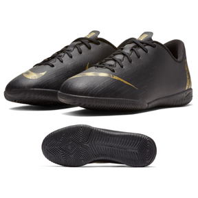 Nike Youth MercurialX Vapor XII Academy Indoor Shoes (Black/Gold)
