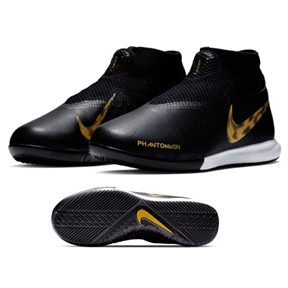 Nike Youth  Phantom Vision Academy DF Indoor Shoes (Black/Gold)