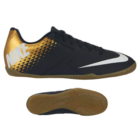 Nike Bomba Indoor Soccer Shoes (Black/Gold)