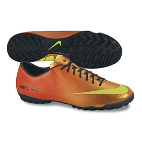 Nike Mercurial Victory IV Turf Soccer Shoes (Sunset)