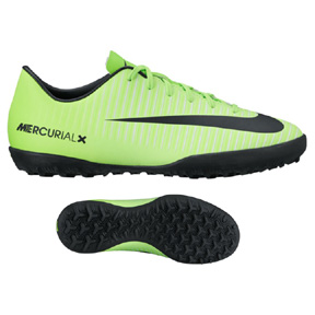 Nike Youth  Mercurial Victory VI Turf Soccer Shoes (Electric/Black)