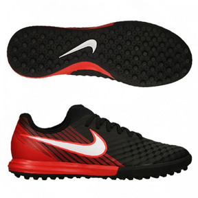 Nike MagistaX Finale II Turf Shoes (Black/Red)