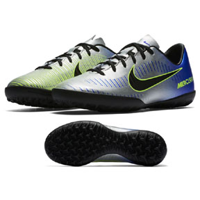 Nike Youth Neymar Mercurial Victory VI Turf Shoes (Chrome)