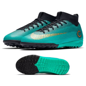 Nike Youth  CR7   Superfly 6 Academy Turf Soccer Shoes (Jade)