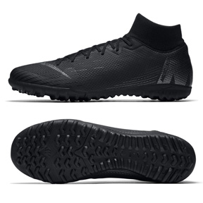 Nike SuperflyX 6 Academy Turf Soccer Shoes (Black Pack)