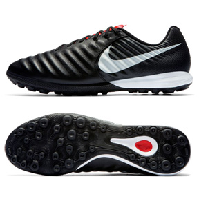 Nike Tiempo Lunar Legend 7 Pro Turf Shoes (Black/Platinum)