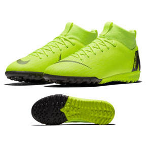 Nike Youth  MercurialX Superfly 6 Academy Turf Soccer Shoes (Volt)