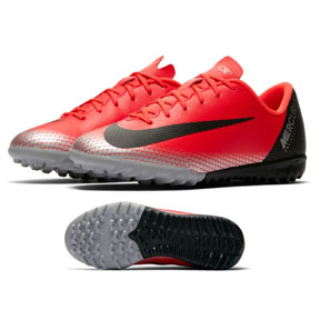 Nike Youth CR7 MercurialX Vapor XII Academy Turf Shoes (Red)