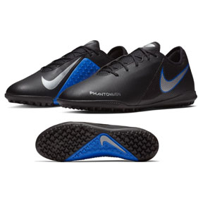 Nike  Phantom Vision Academy Turf Soccer Shoes (Black/Silver/Blue)