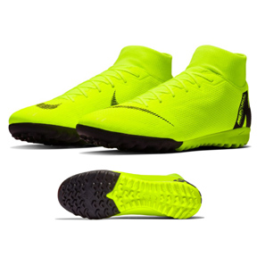 Nike  SuperflyX 6 Academy Turf Soccer Shoes (Volt/Black)
