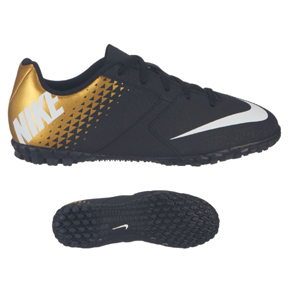 Nike Youth Bomba Turf Soccer Shoes (Black/Gold)