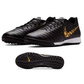 Nike  Tiempo LegendX 7 Academy Turf Soccer Shoes (Black/Gold)