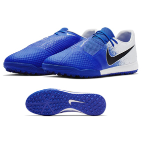 Nike  Phantom Venom Academy Turf Soccer Shoes (White/Black/Racer Blue)