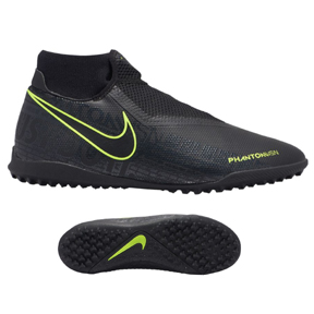 Nike Phantom Vision Academy DF Turf Soccer Shoes (Black/Volt)