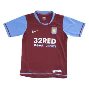 Nike Youth Aston Villa Soccer Jersey (Home 2007/08)