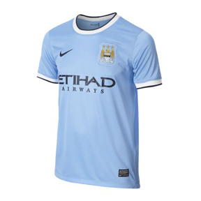 Nike Youth Manchester City Soccer Jersey (Home 13/14)