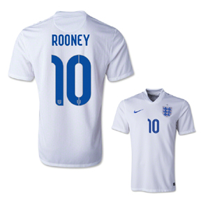 Nike England Rooney #10 Soccer Jersey (Home 14/15)