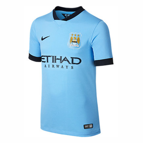 Nike Youth Manchester City Soccer Jersey (Home 14/15)