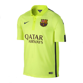 Nike Youth Barcelona Flash Flood Soccer Jersey (Alternate 14/15)