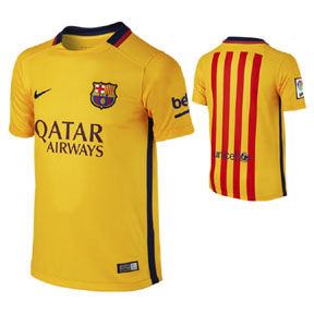 Nike Youth Barcelona Soccer Jersey (Away 15/16)
