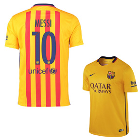 Nike Barcelona Lionel Messi #10 Soccer Jersey (Away 15/16)