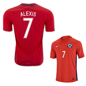 Nike  Chile  Alexis Sanchez #7 Soccer Jersey (Home 2016/17)