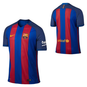 Nike Youth Barcelona Soccer Jersey (Home 16/17)
