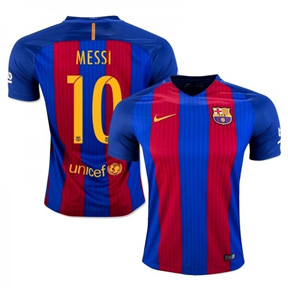 Nike Youth Barcelona  Messi #10 Soccer Jersey (Home 16/17)