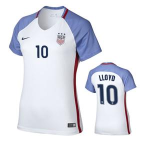new product e756c b6d4d Nike Womens USA Carli Lloyd #10 Player Cut Jersey (Home 16 ...