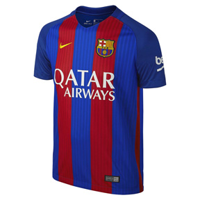 Nike Youth Barcelona Soccer Jersey (Home Logo 16/17)