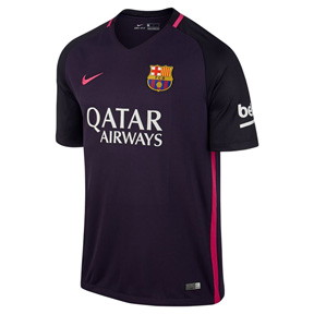 Nike Youth Barcelona  Soccer Jersey (Away Logo 16/17)