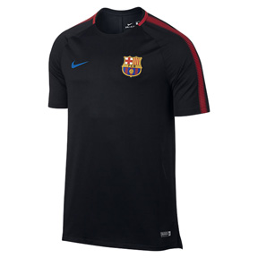 Nike Barcelona Breathe Squad Soccer Training Jersey (Black)