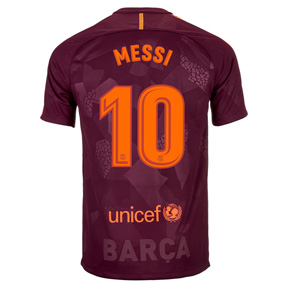 Nike Youth Barcelona Messi #10 Soccer Jersey (Alternate 17/18)