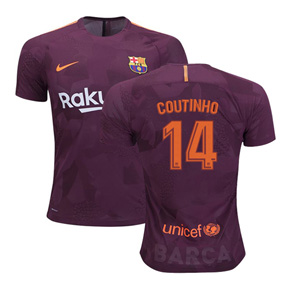Nike Youth Barcelona Coutinho #14 Soccer Jersey (Alternate 17/18)