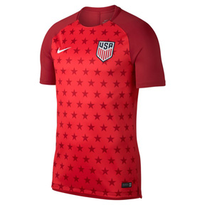 Nike  USA   Squad Soccer Training Jersey (Red 18/19)