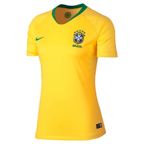 Nike Womens  Brazil World Cup 2018 Soccer Jersey (Home)