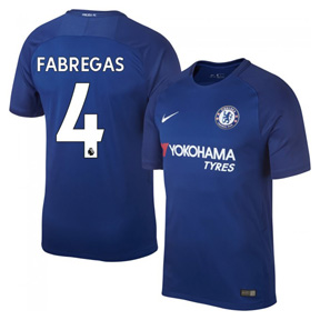 Nike Chelsea Fabregas #4 Soccer Jersey (Home 17/18)