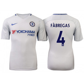 Nike Youth Chelsea Fabregas #4 Soccer Jersey (Away 17/18)