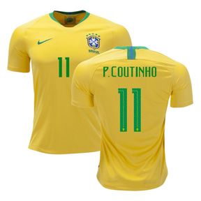 Nike  Brazil Coutinho #11 World Cup 2018 Soccer Jersey (Home)