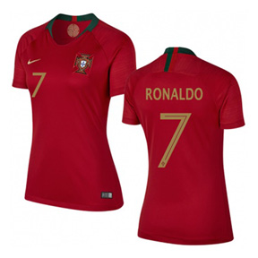 Nike Womens  Portugal Ronaldo #7 World Cup 2018 Jersey (Home)