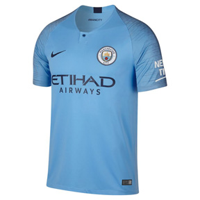 Nike Manchester City Soccer Jersey (Home 18/19)