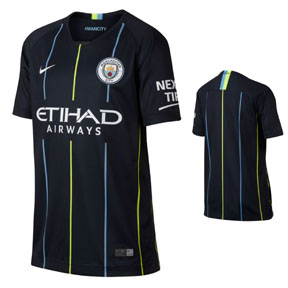 Nike Youth  Manchester City Soccer Jersey (Away 18/19)