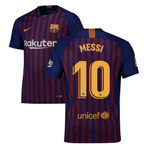 Nike  Barcelona Lionel Messi #10 Soccer Jersey (Home 18/19)