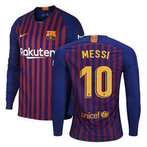 first rate 689e4 7be64 Nike Barcelona Lionel Messi #10 LS Soccer Jersey (Home 18/19 ...